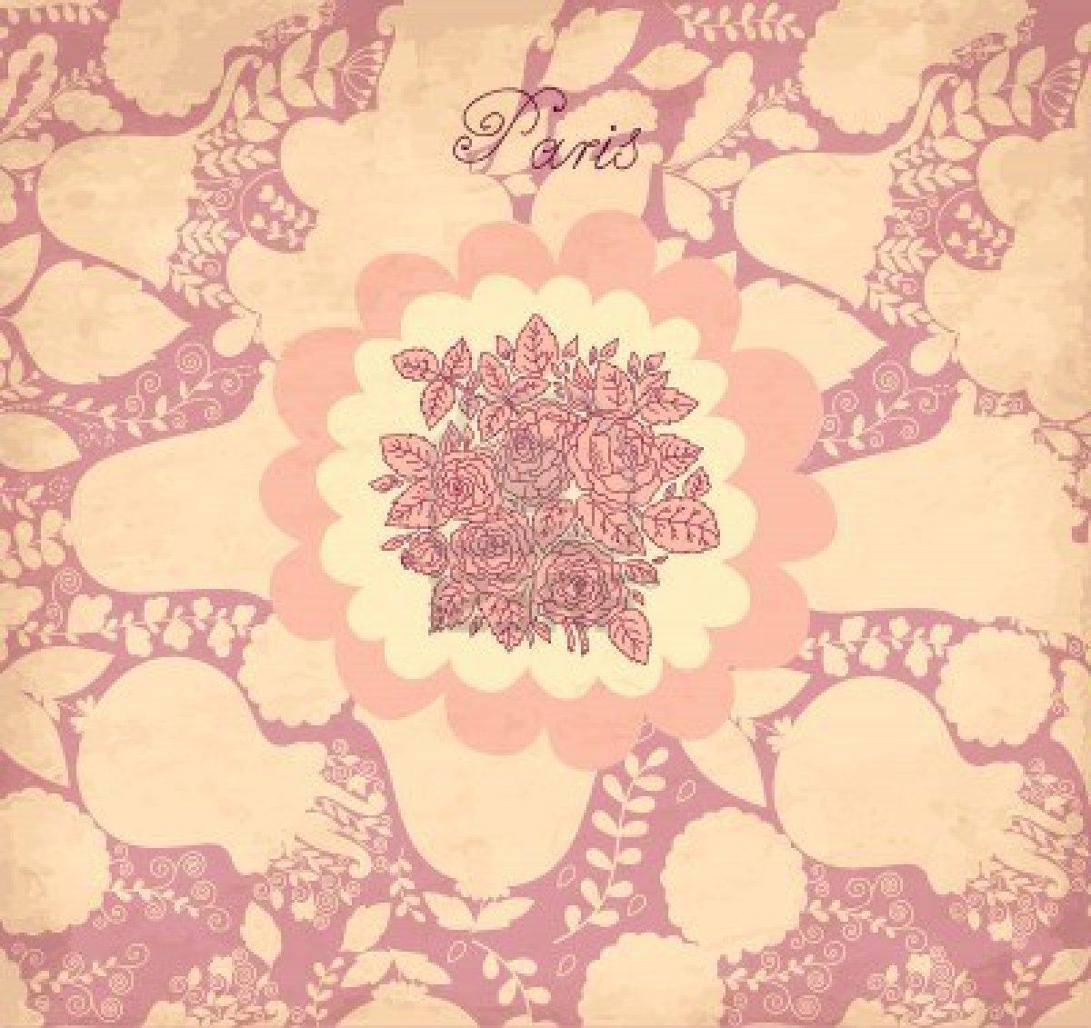 Free Download Vintage Flower Wallpaper Wallpaper Vintage Flower