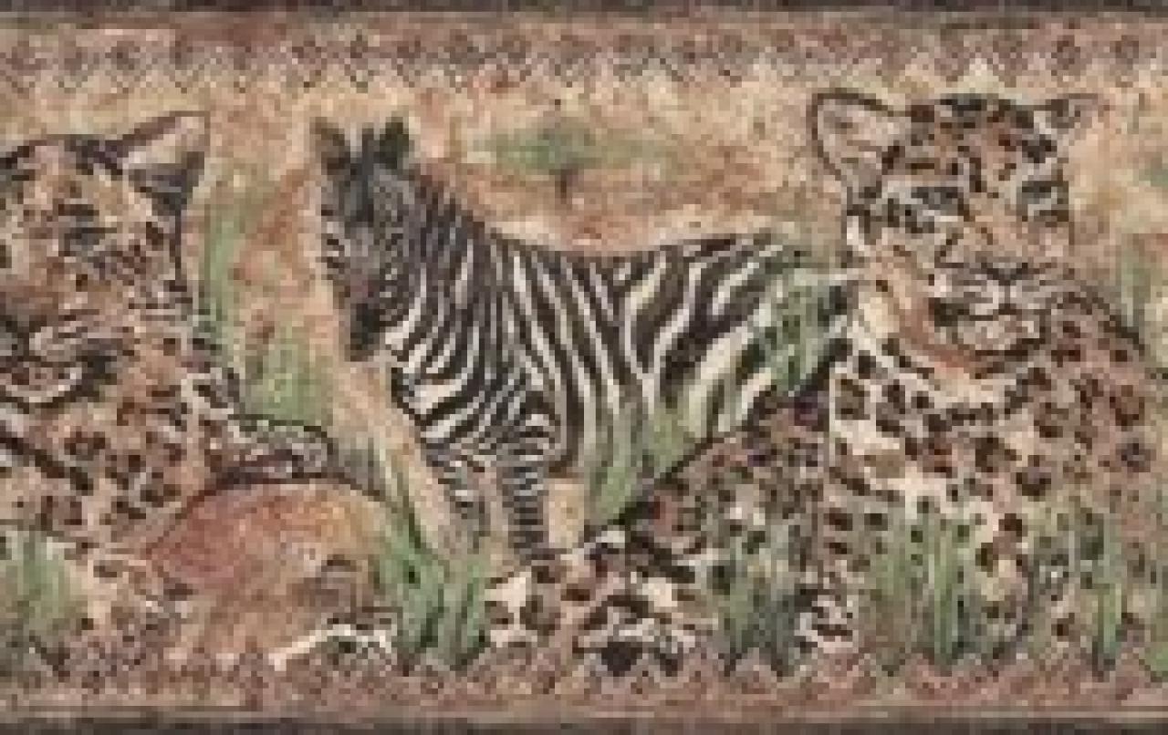 Wallpaper border cheetah and zebra ebay 1280x806