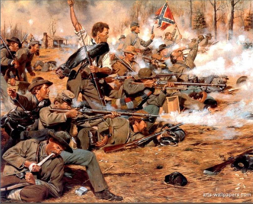American Civil War Paintings Art Prints Gallery Pictures Artworks 807x649