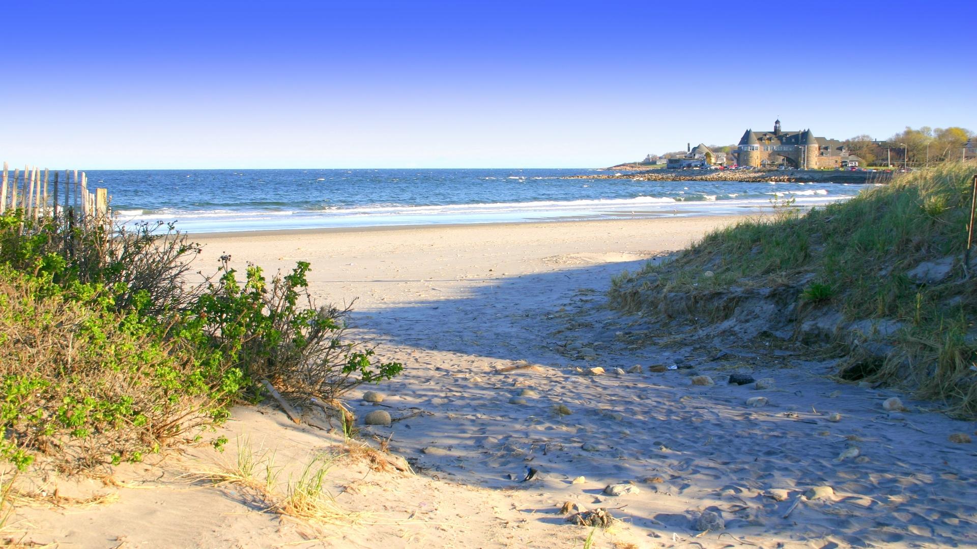 playa de naraggansett en rhode island wallpaper 1920x1080