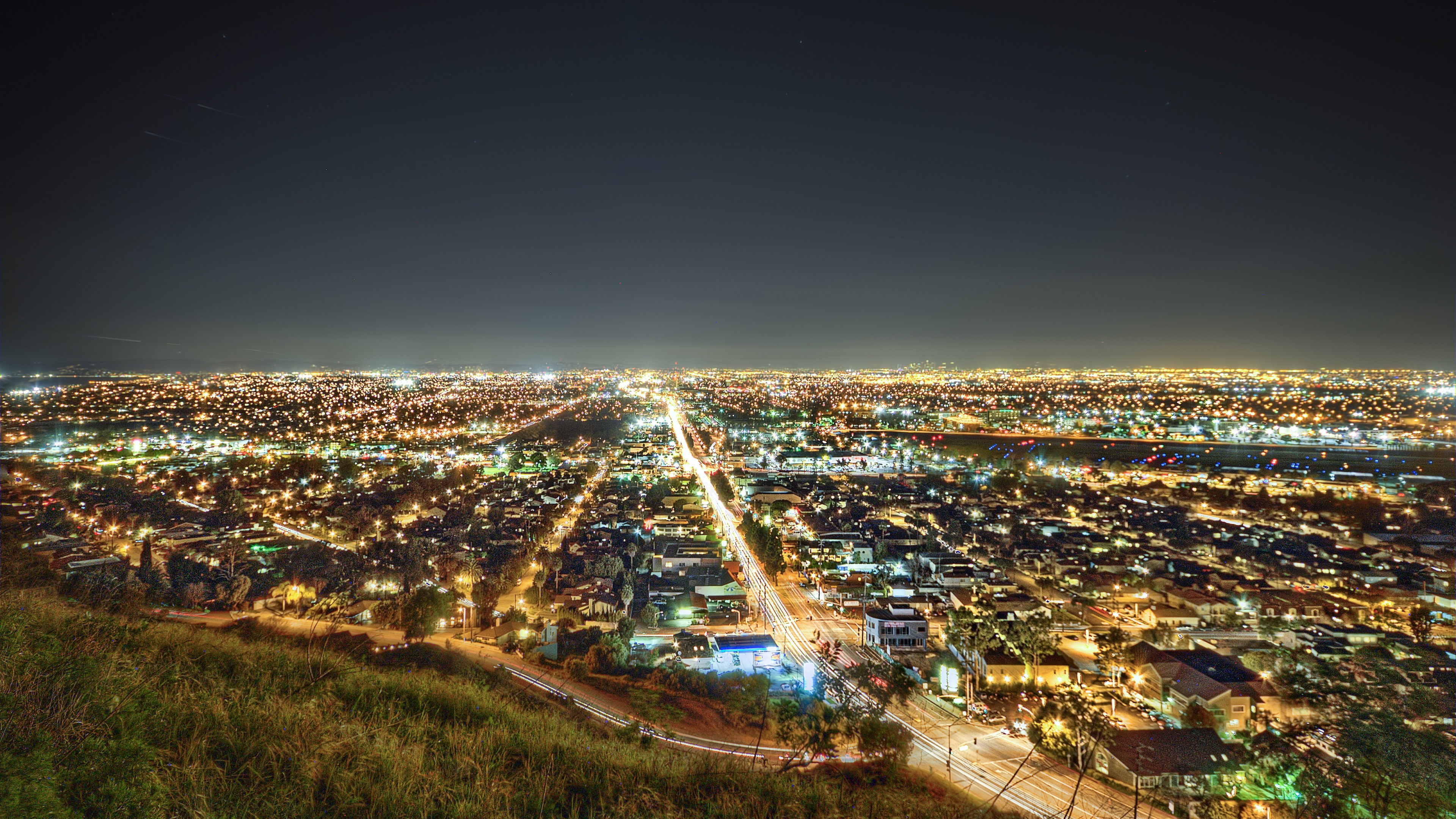 Download Wallpaper 3840x2160 los angeles california night 4K Ultra 3840x2160