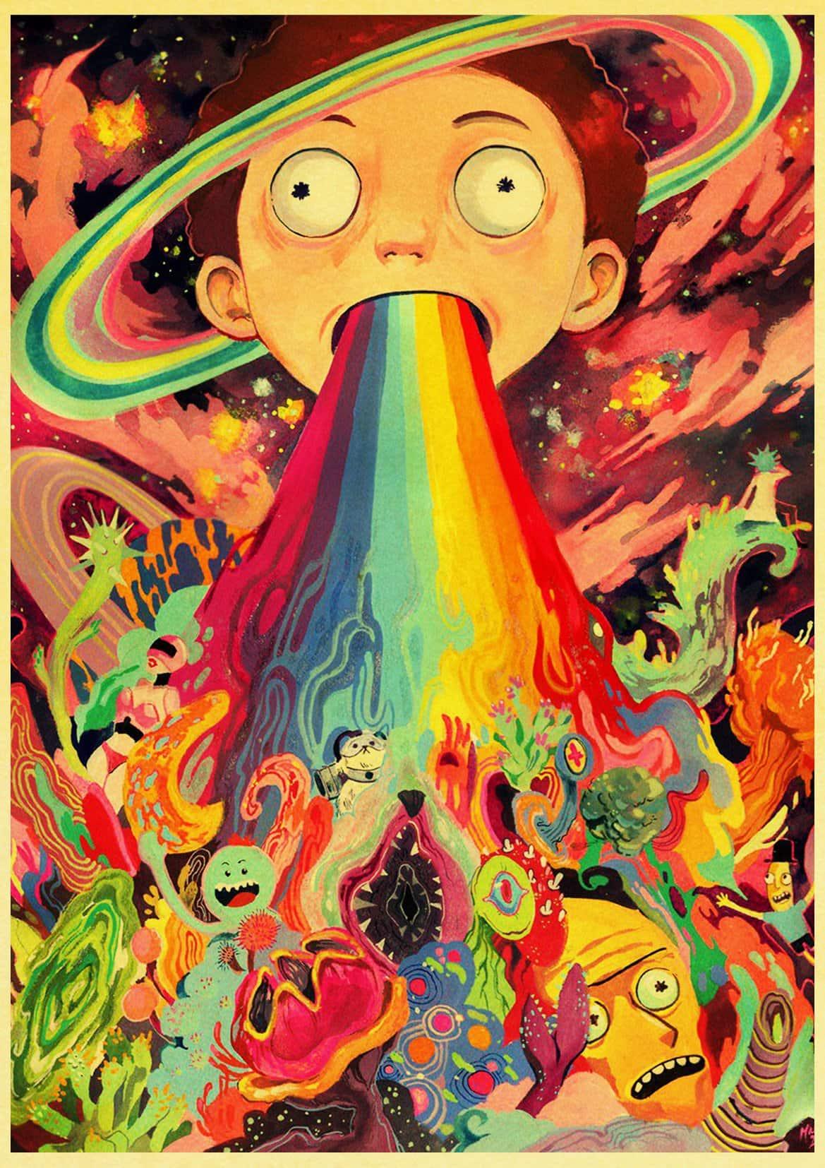 Cute Morty Smith Retro Poster   Rick And Morty Stuff 1169x1654