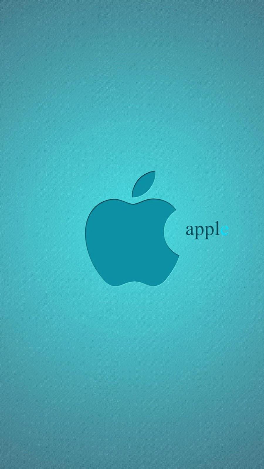 Apple Light Blue Logo iPhone 7 and iPhone 7 Plus Wallpaper   HD 900x1600