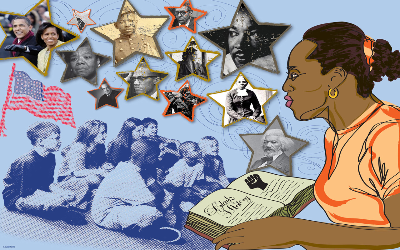 February Black History Month 2011 computer desktop wallpapers 1280x800