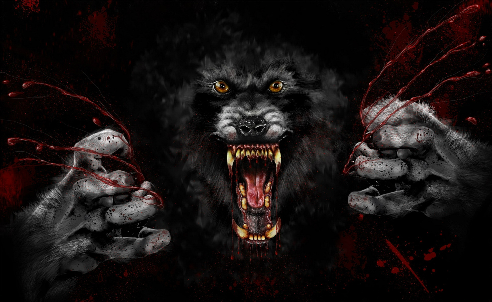 Dark Werewolf Wallpaper 1918x1178 Dark Werewolf 1918x1178