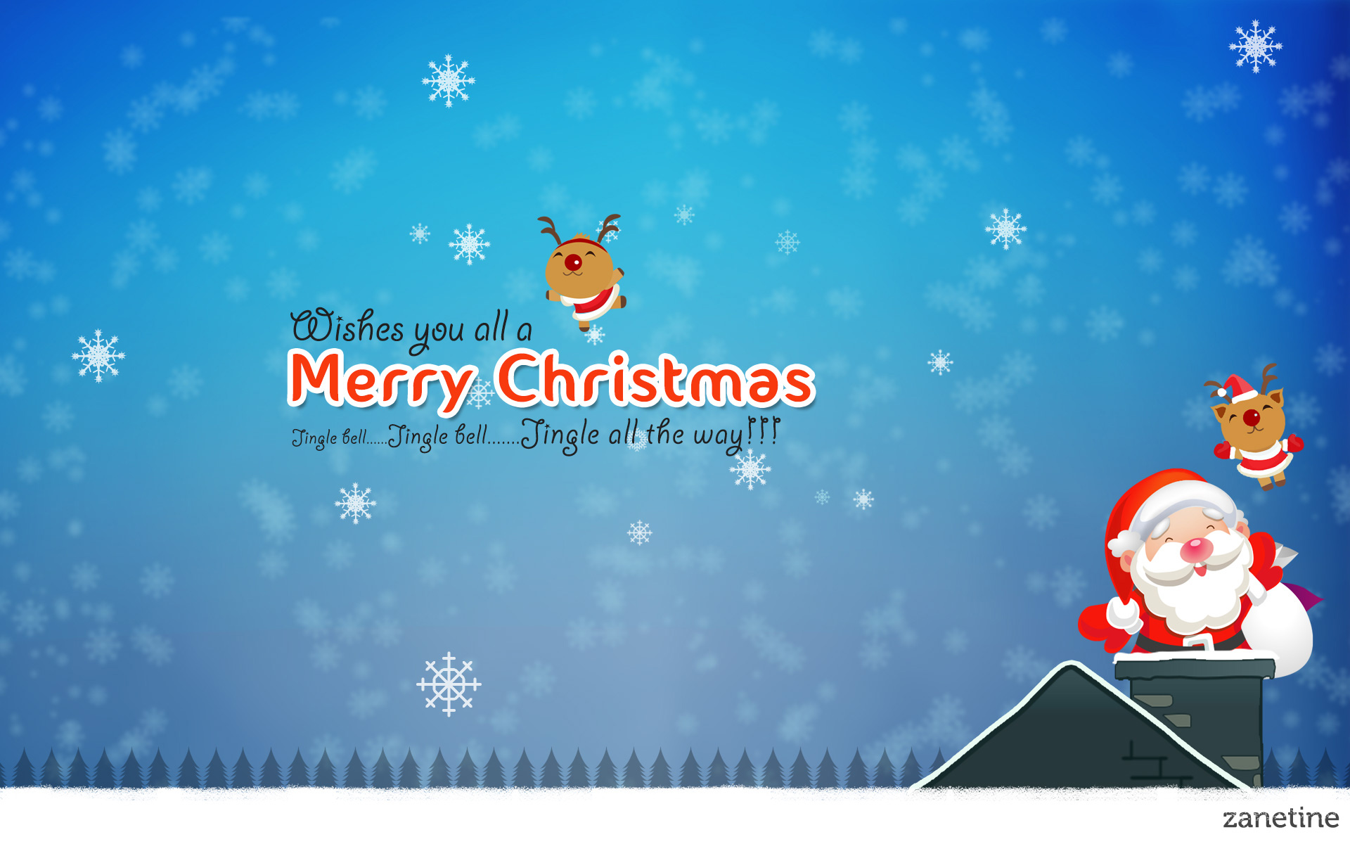Merry Christmas Jingle Bells Desktop Wallpaper 1920x1200