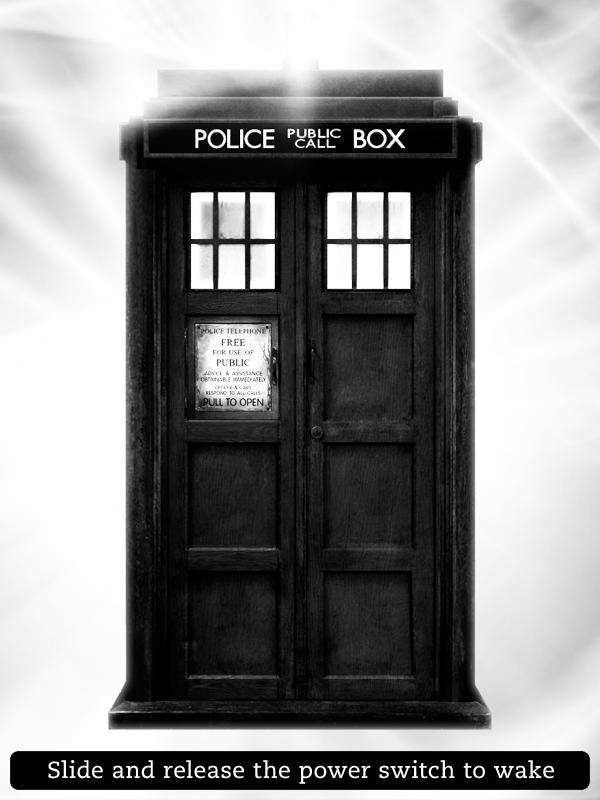 Kindle Screensaver TARDIS by SongOrSuicide 600x800