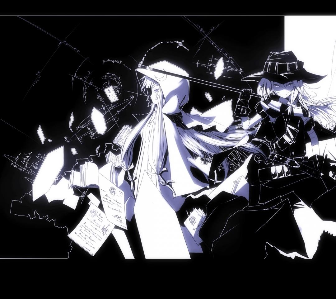 touhou moon kirisame marisa monochrome hoodie anime badass patchouli 1080x960