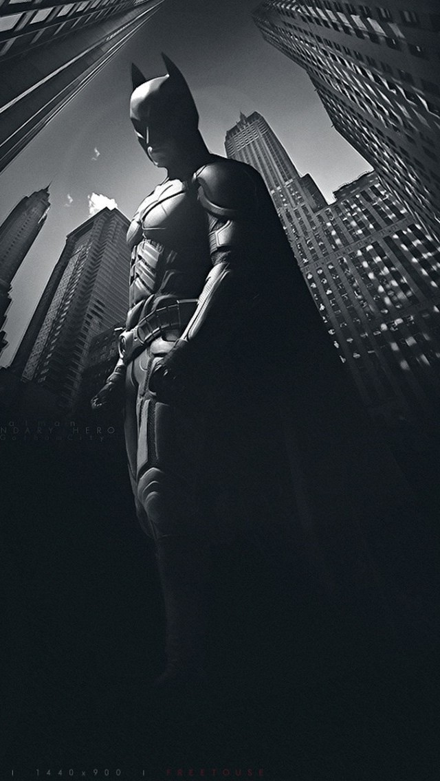 Batman In The Dark Wallpaper   iPhone Wallpapers 640x1136