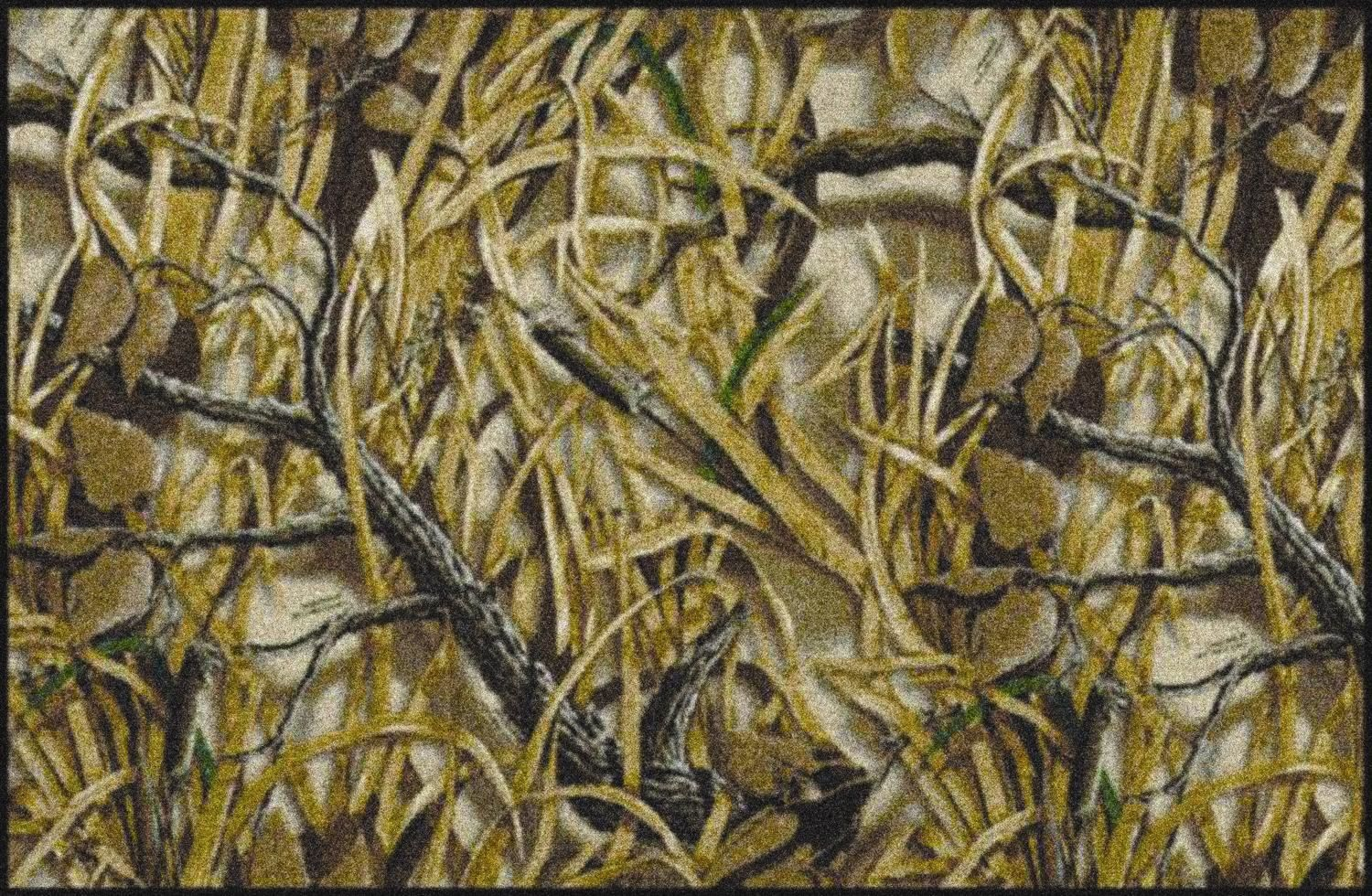 Wetlands Realtree Leaves Branches Camouflage Nylon Area Rug 1500x980