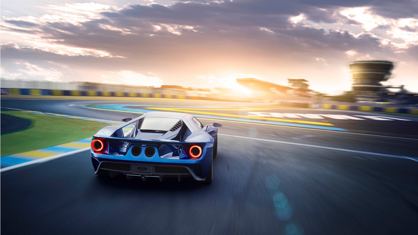 2017 Ford GT Rear Wallpaper HD Car Wallpapers 1366x768