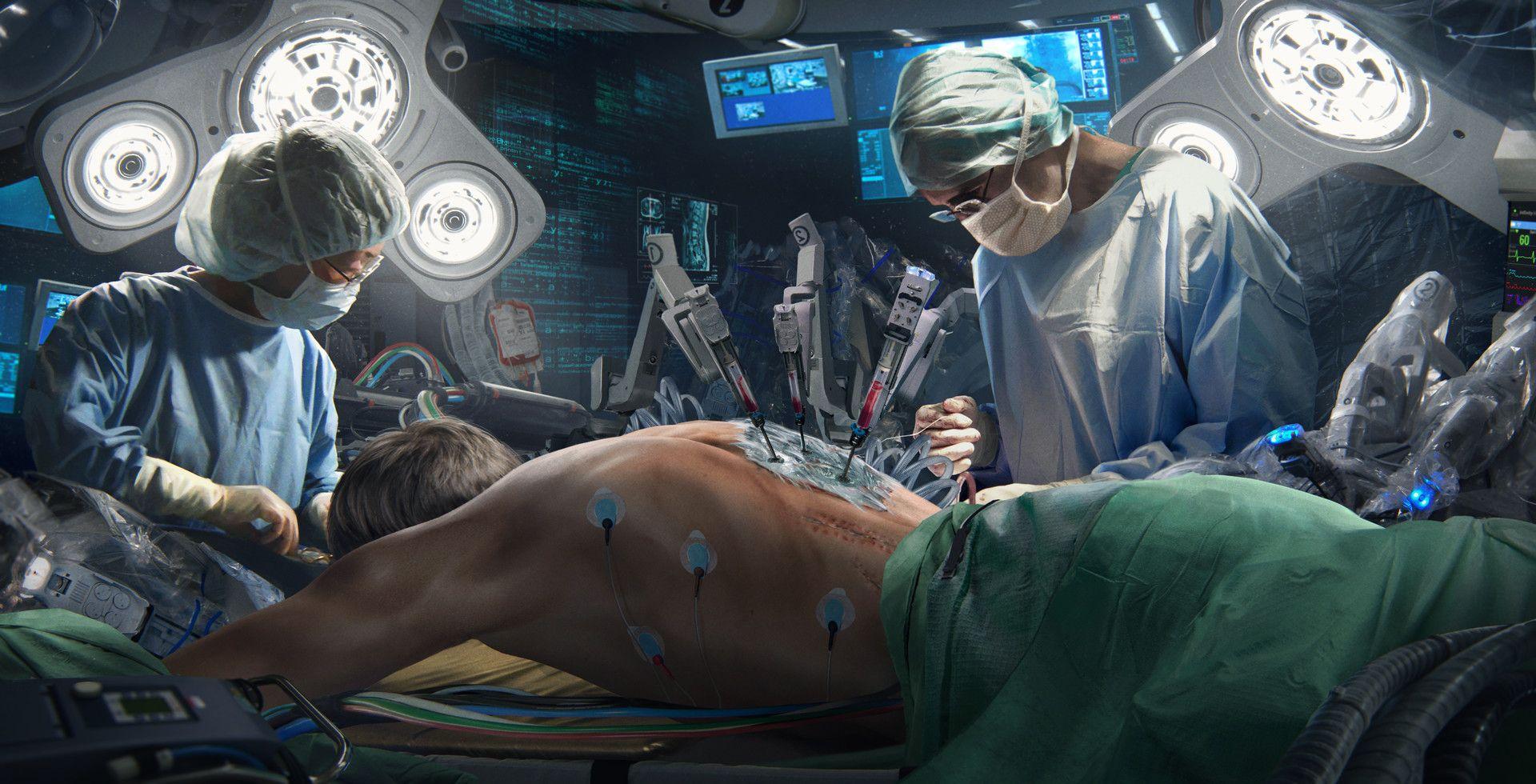 Neuromancer Cases Surgery by Niek Schlosser sci fi in 2019 1920x980