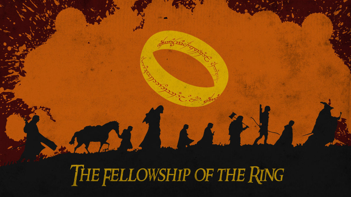Free Download The Fellowship Of The Ring Orange Dirty By