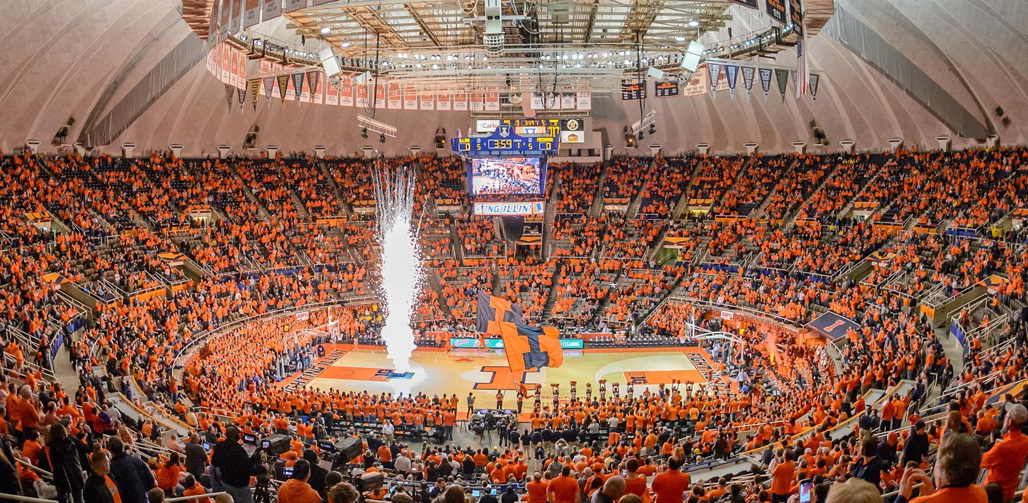 Illinois Athletics   State Farm Center Fan Guide 2000x980