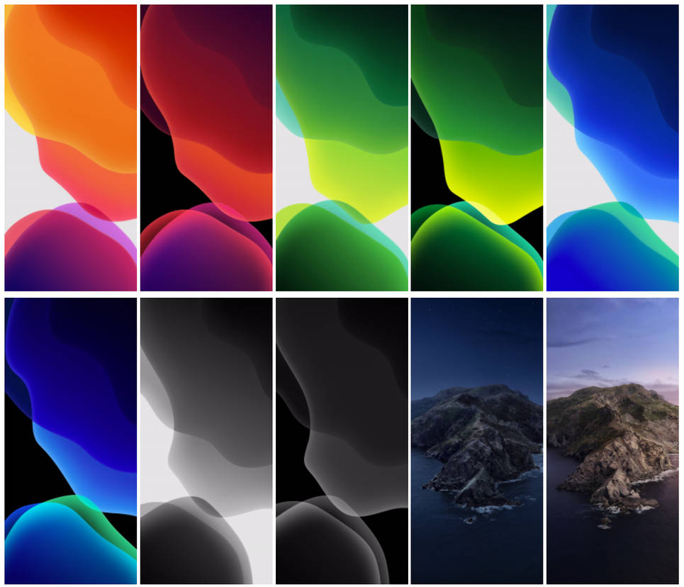 iOS 13 and macOS Catalina Wallpaper Collection by hs1987 965x828
