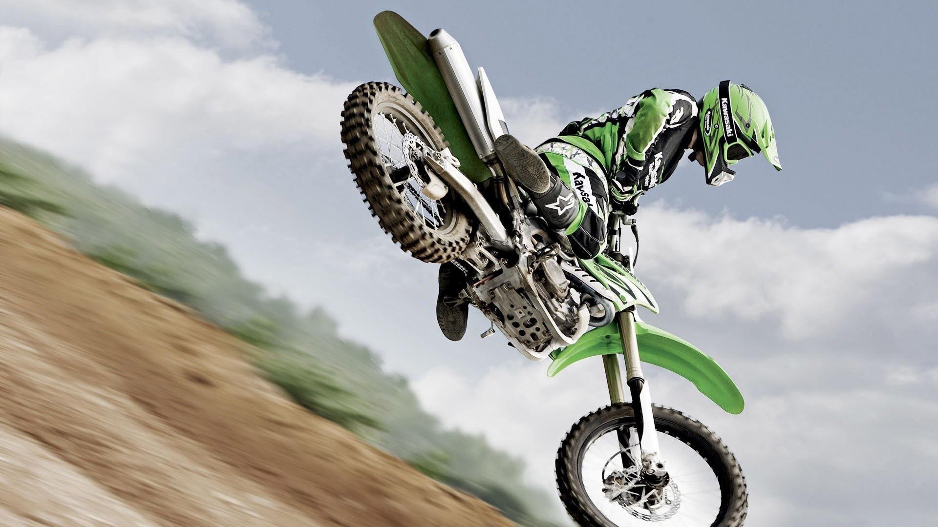 Motocross Green Kawasaki HD Wallpaper FullHDWpp   Full HD 1920x1080