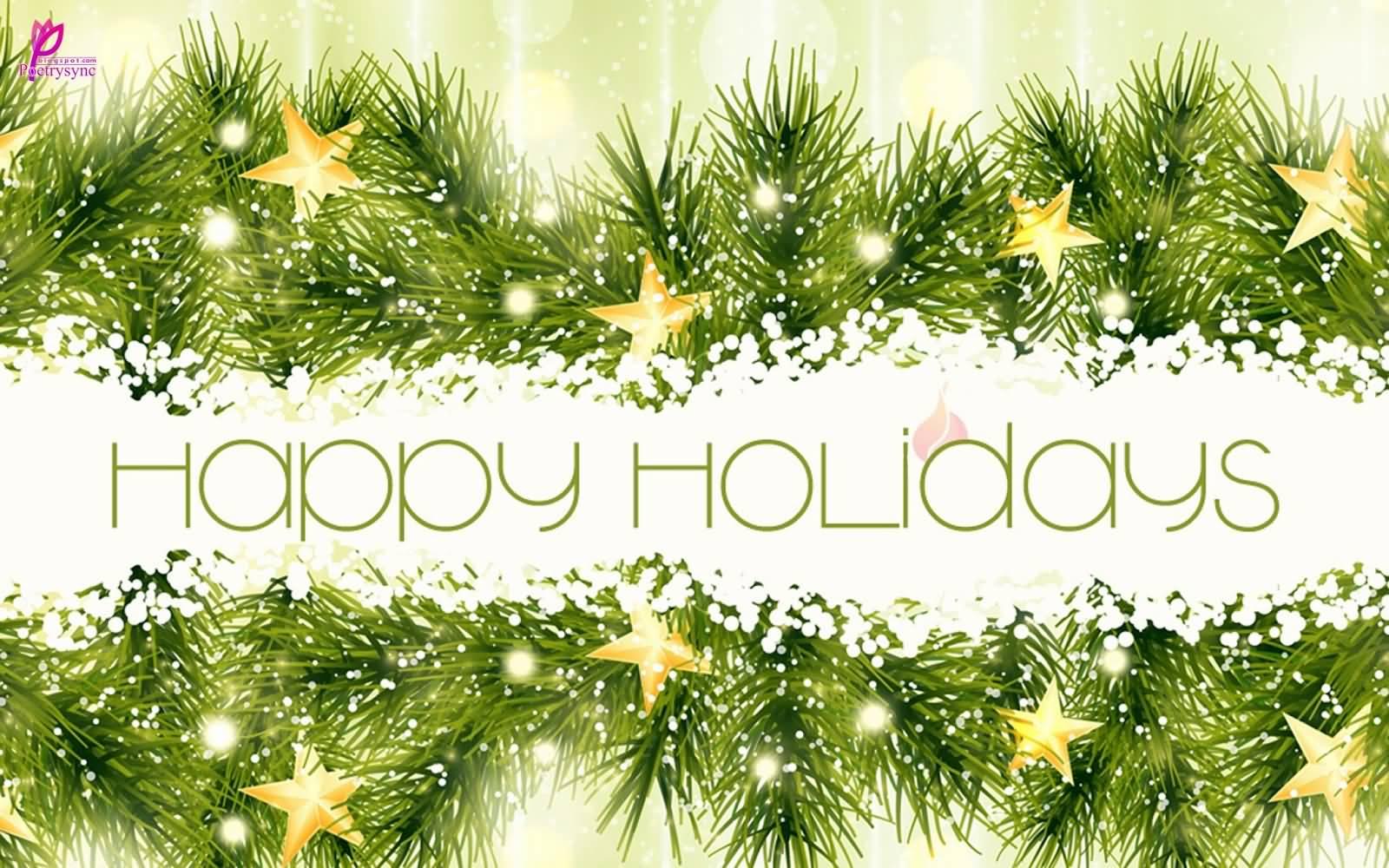 Happy Holidays beautiful wallpaper 1600x1000