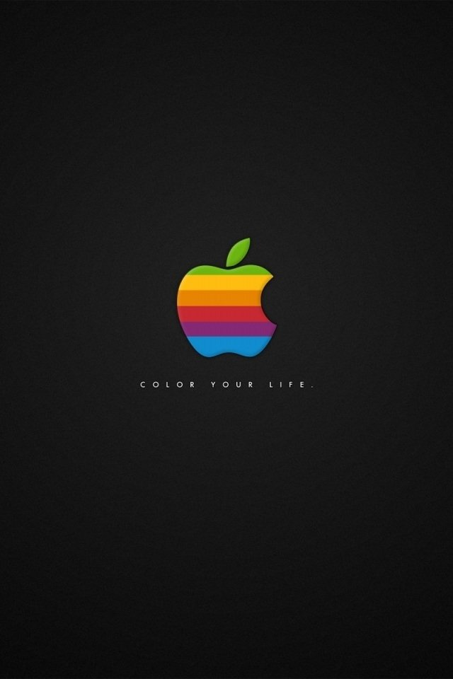 hd golden apple think different iphone 4 wallpapers backgrounds 640x960