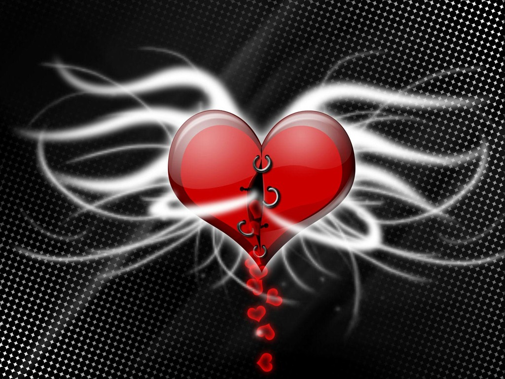 Here Is A Black And Red Heart Wallpaper For You Your Loved Ones 1024x768