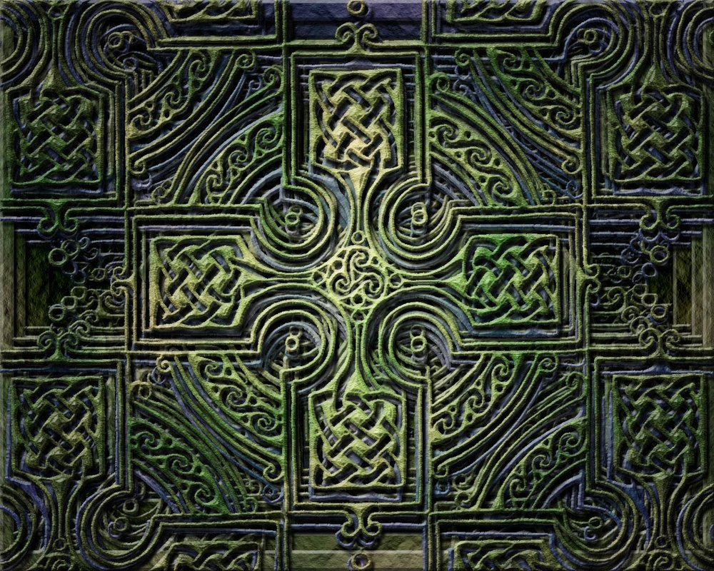 Celtic Cross Wallpaper by jen jamieson 1000x800