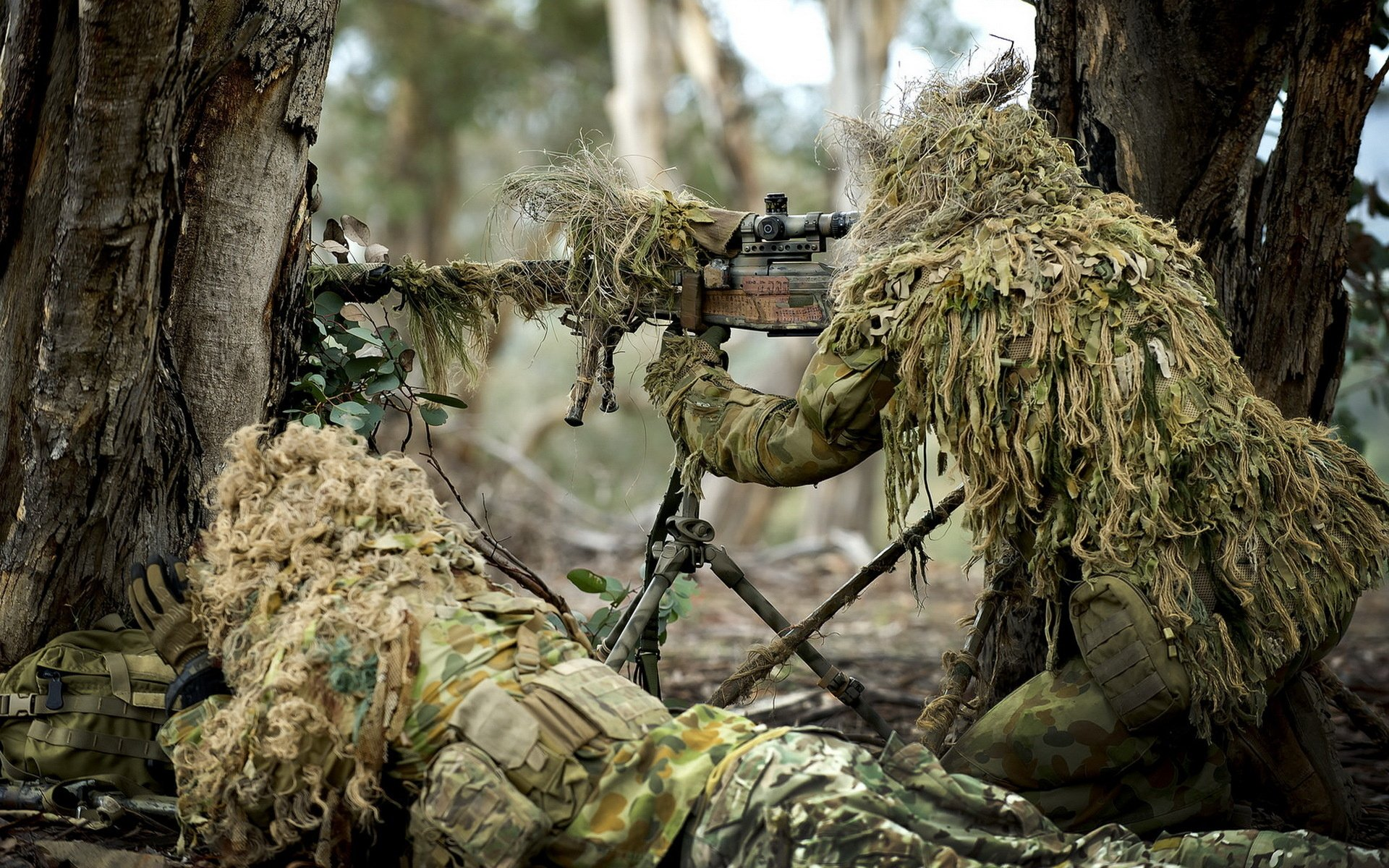 soldier weapon army gun sniper forest military wallpaper background 1920x1200