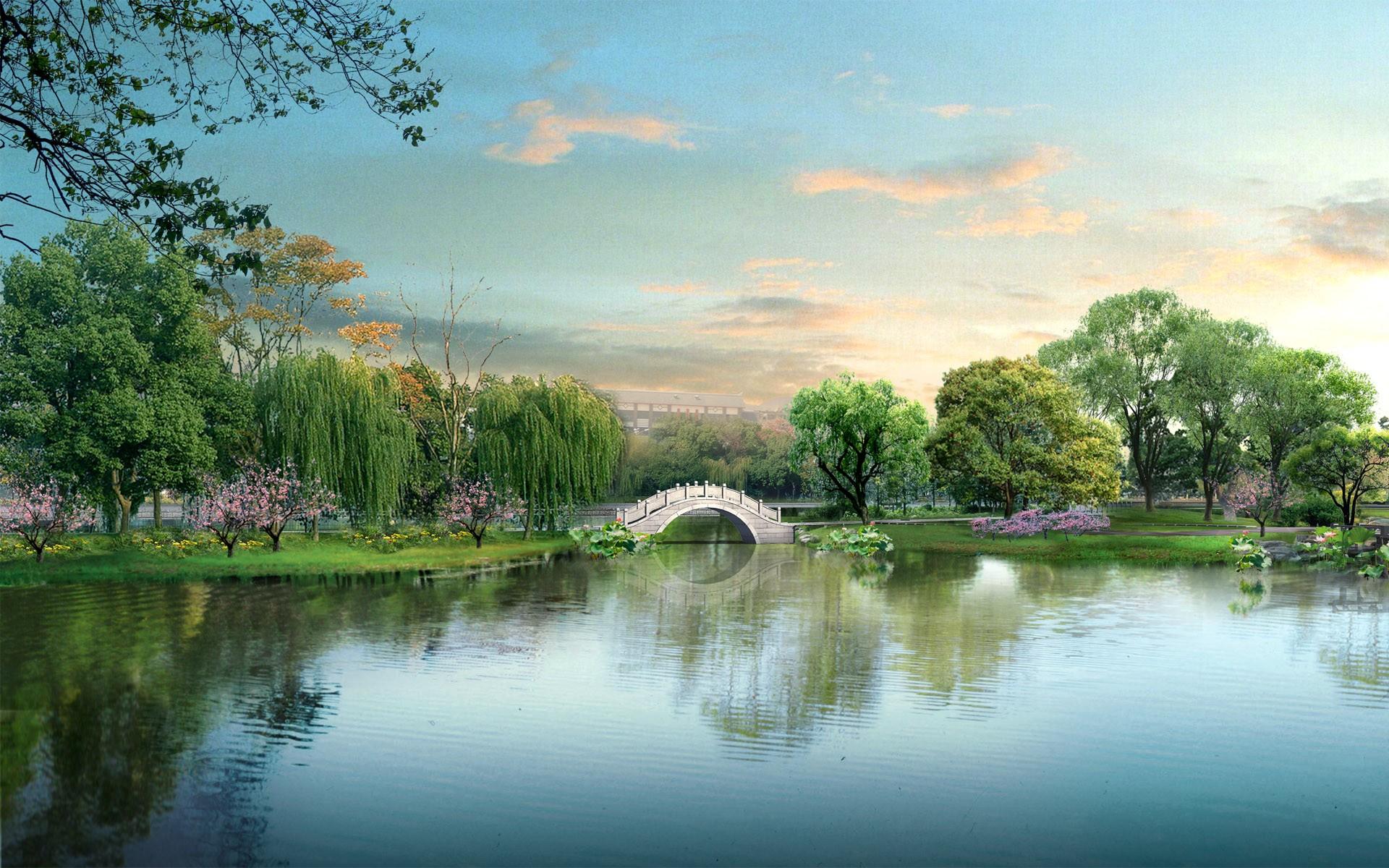 Widescreen Japan Digital Landscape Wallpapers | HD Wallpapers
