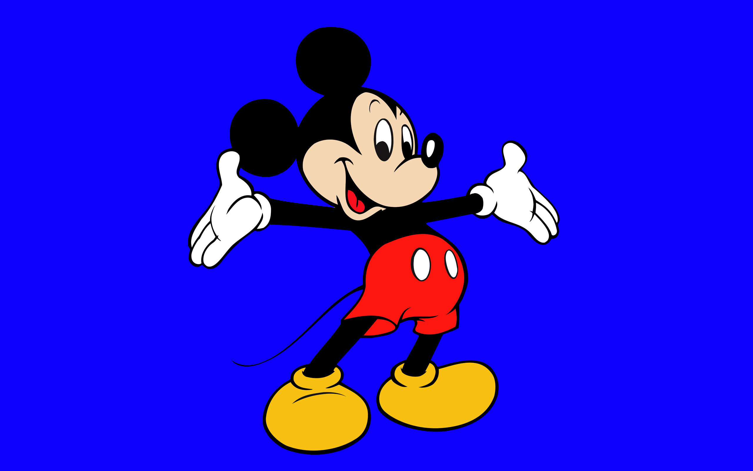 Cartoons Wallpapers   Mickey Mouse   Blue 2560x1600 wallpaper 2560x1600