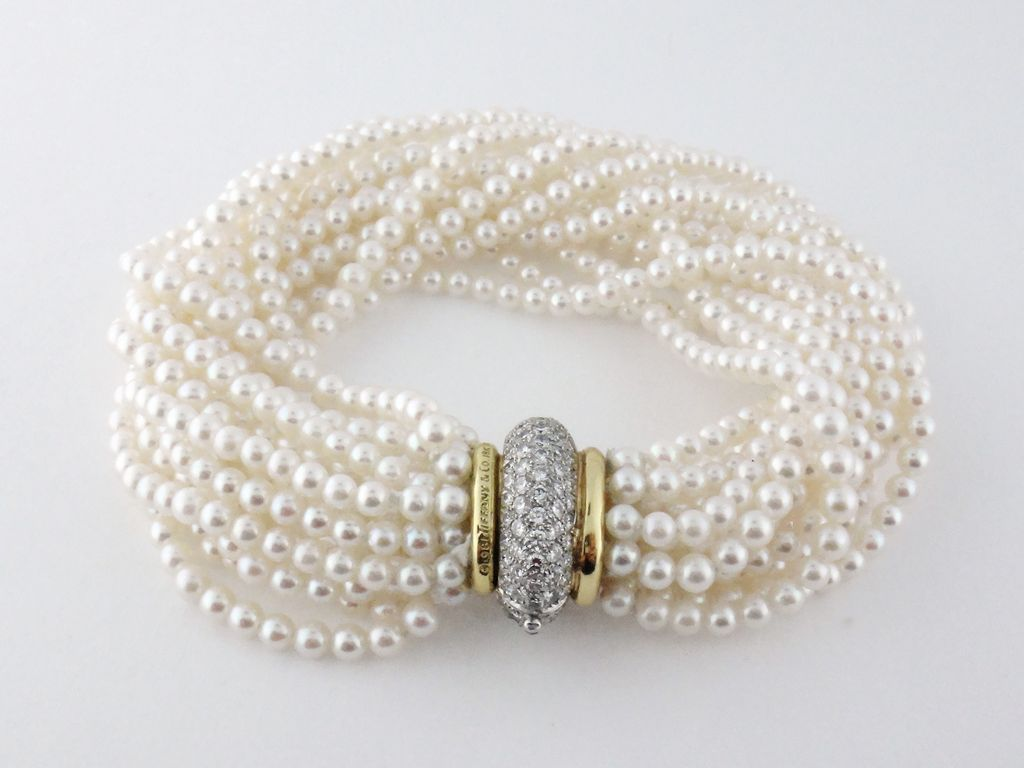 Diamond Necklace With Pearls
