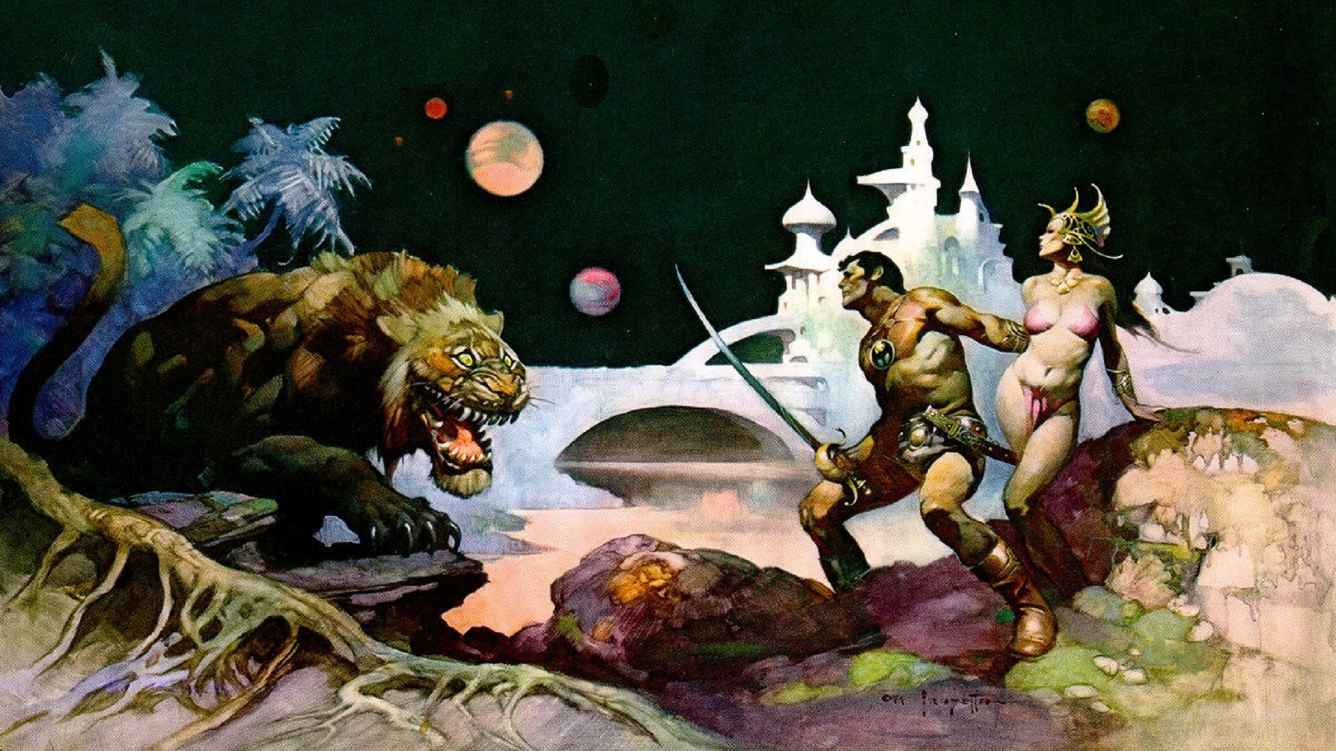 artwork frank frazetta HD Wallpaper   General 769326 1920x1080