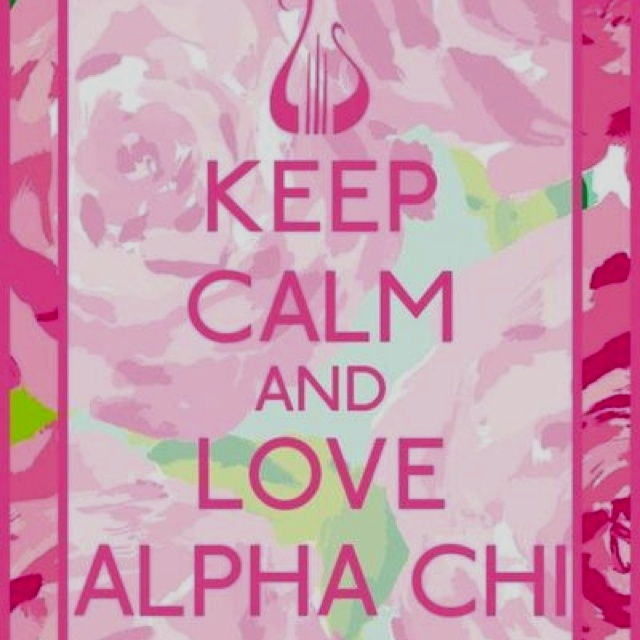 Alpha Chi Omega with a Lilly Pulitzer print background Alpha Chi 640x640