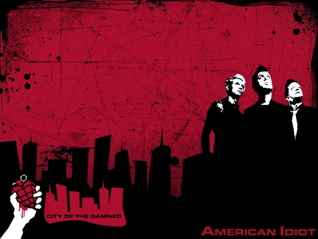 My Wallpapers   Music Wallpaper Green Day   America Idiot 1024x768