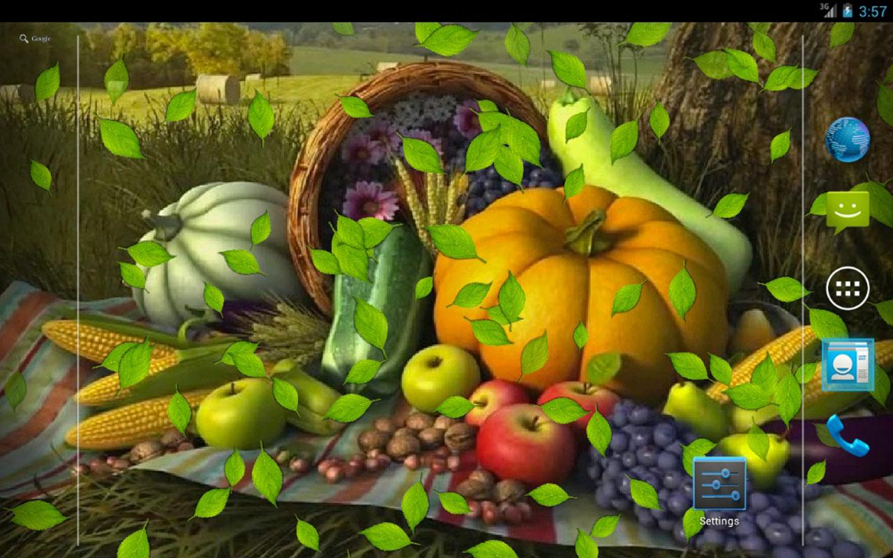 Download 3D Thanksgiving live wallpaper for android 3D Thanksgiving 1280x800
