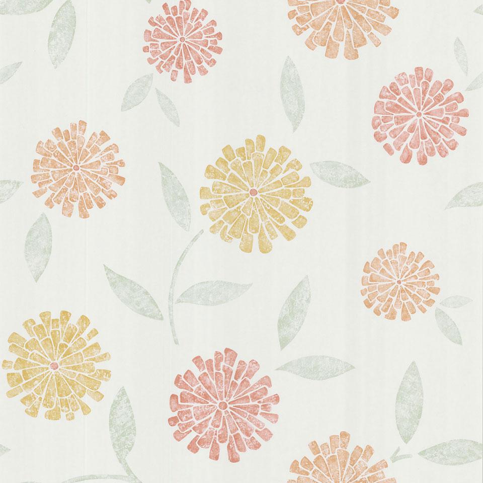 Free Download Citrus Modern Floral Wallpaper Online Shopping Event
