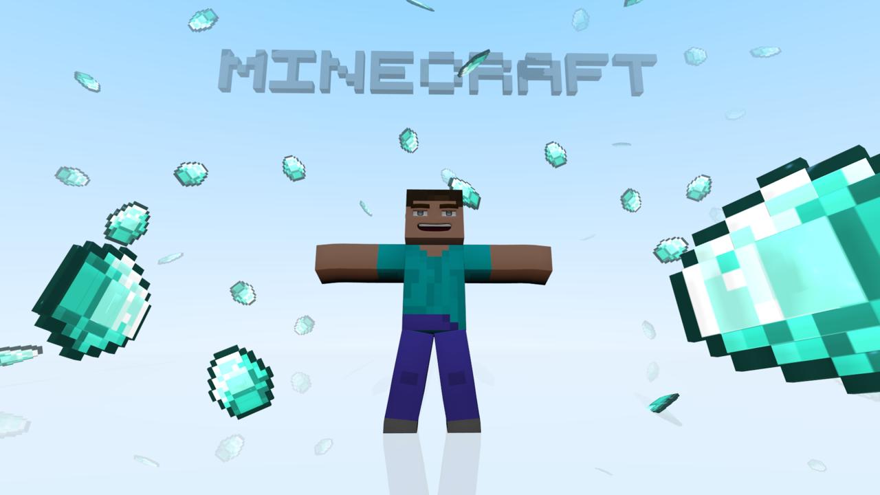 Minecraft HD Wallpaper   Diamonds by roaraku 1280x720