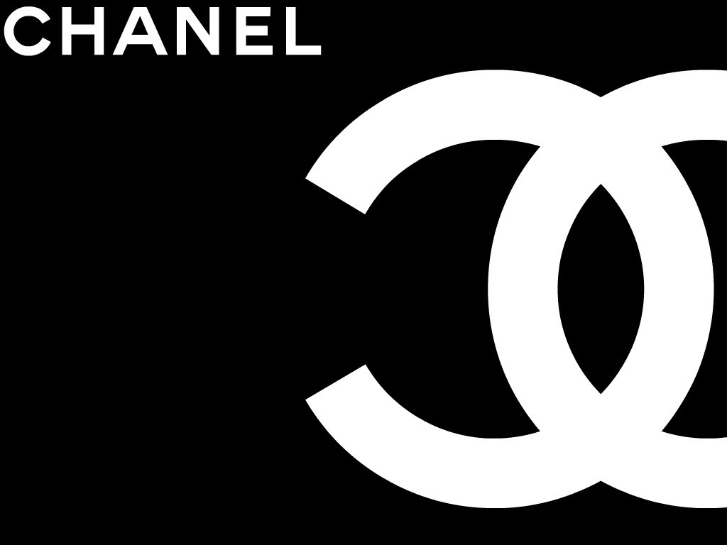 Chanel Logo Black   wallpaper 1024x768