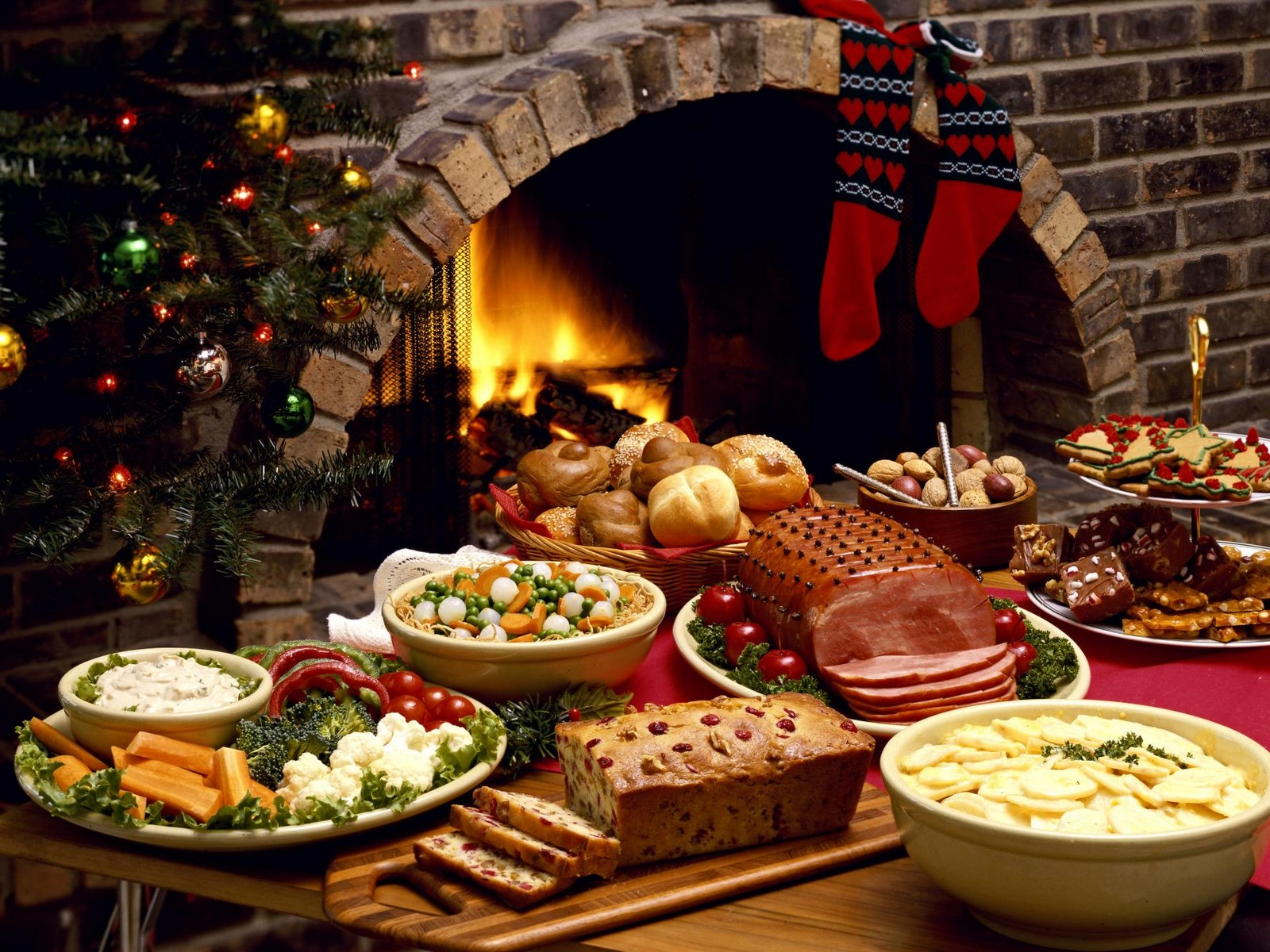 wallpaper Christmas food HD Wallpaper 1600x1200