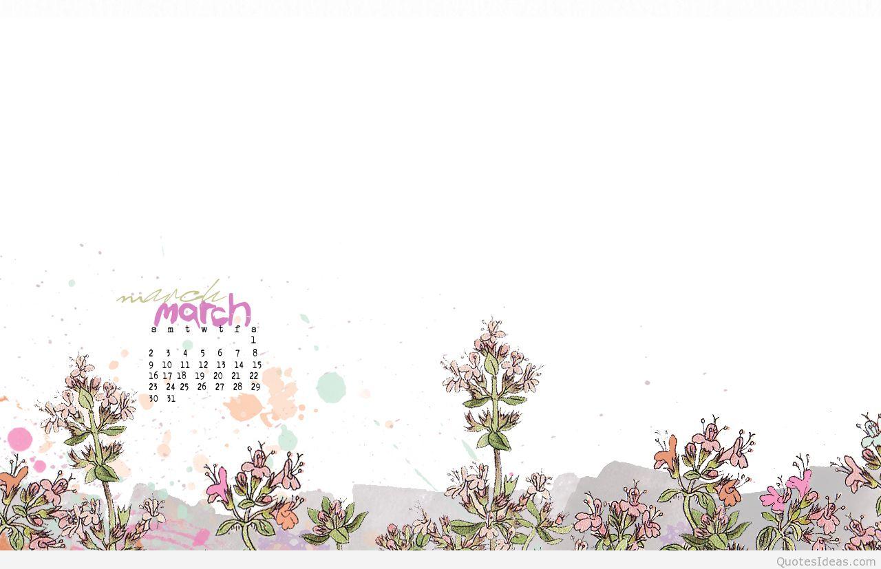 Hello march 2015 calendar 1280x827