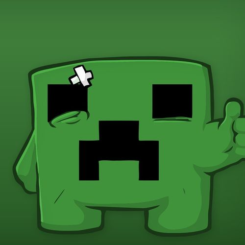Download Sad Minecraft Creeper Wallpaper For iPad 500x500