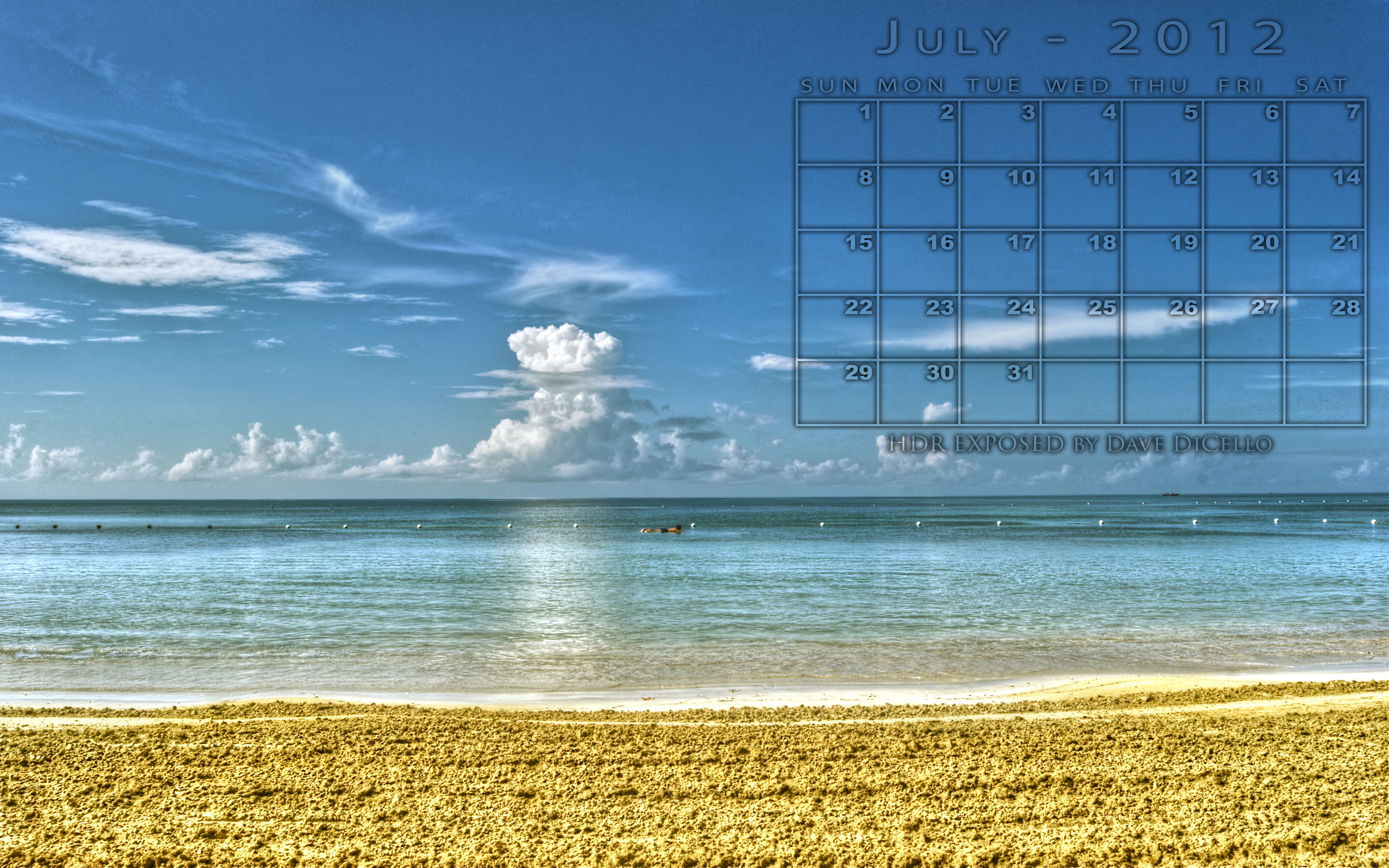 Jamaican beach Desktop Wallpaper 2560x1600