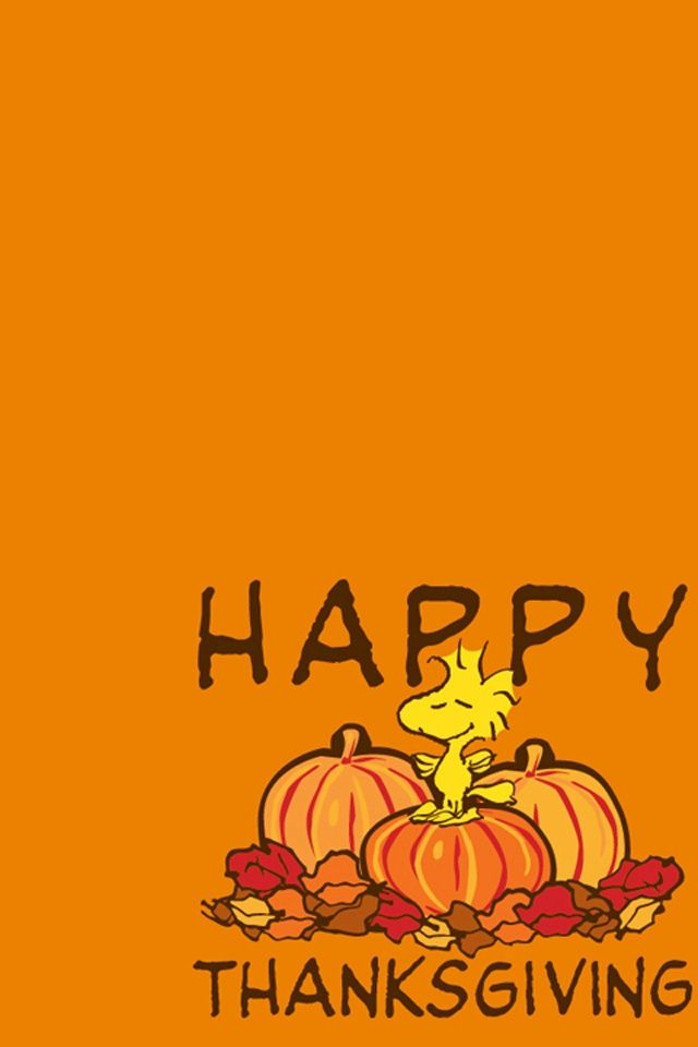 thanksgiving wallpapers Snoopy Happy Thanksgiving iPhone 4 640x960