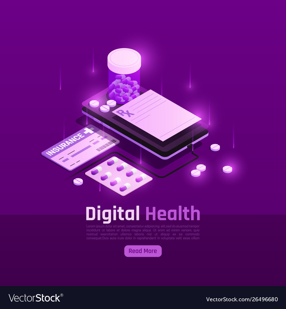 Digital insurance pills background Royalty Vector Image 1000x1080