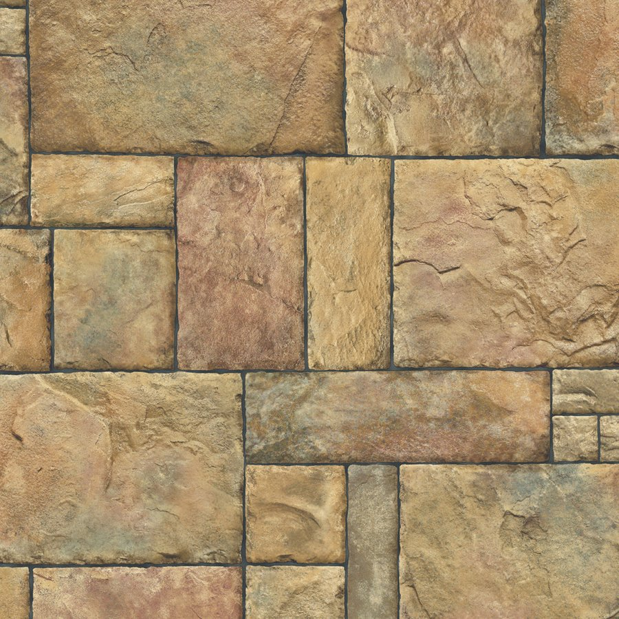 Castle Stone Brown Peelable Vinyl Prepasted Wallpaper Lowes Canada 900x900