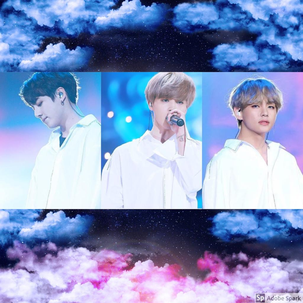 Aesthetic VMinKook   Blue and Pink Clouds by rubyheart22 1024x1024