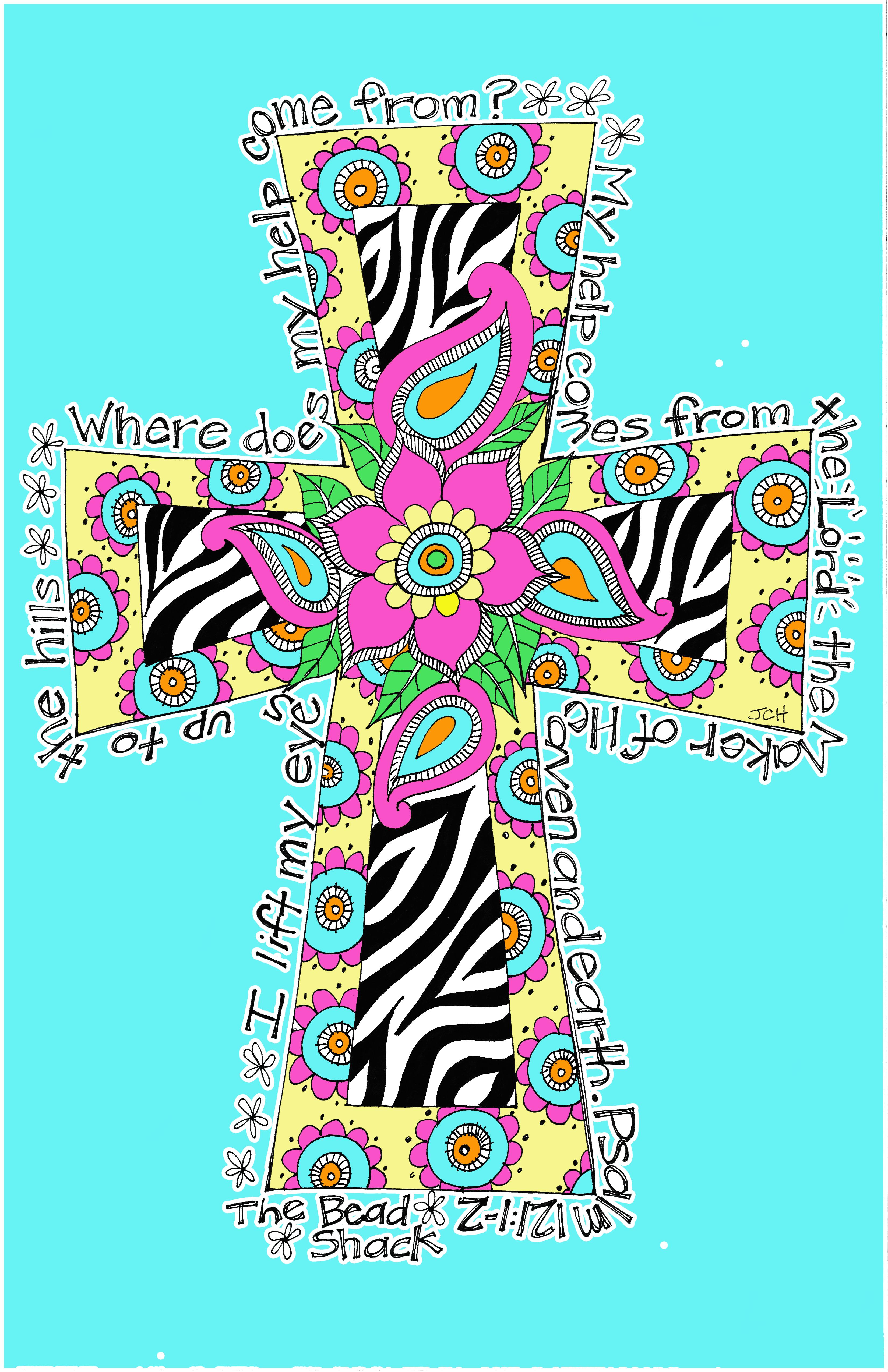 Cross Shirt at the Bead Shack Jenny Hall Art 3300x5100