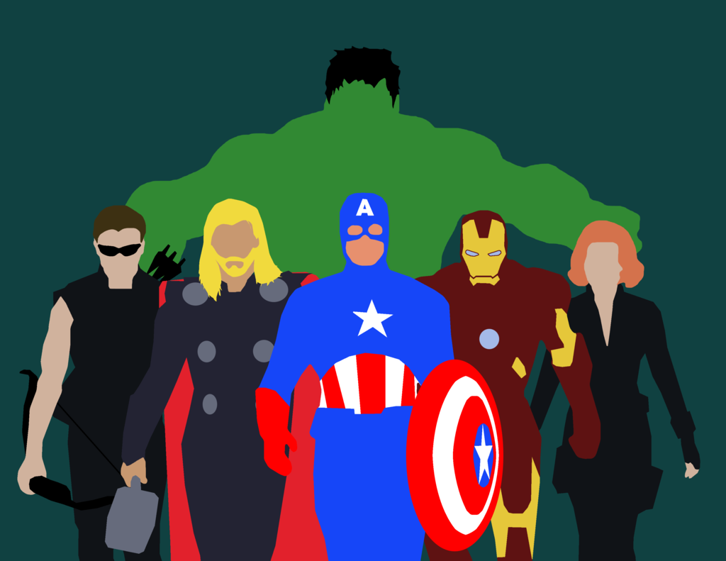 Minimalist Marvel The Avengers by MaclimesZero 1024x791