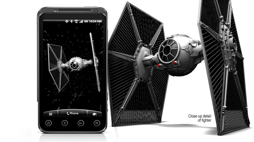Star Wars Live Wallpaper v starfighter padawan Android Apk 854x480