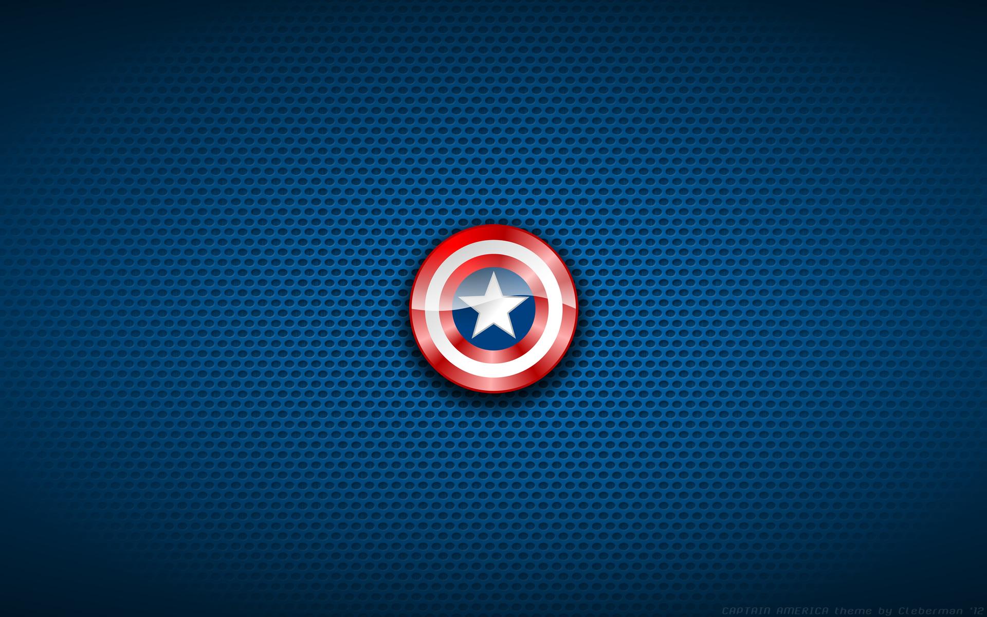 Captain America Shield Blue wallpaper background 1920x1200