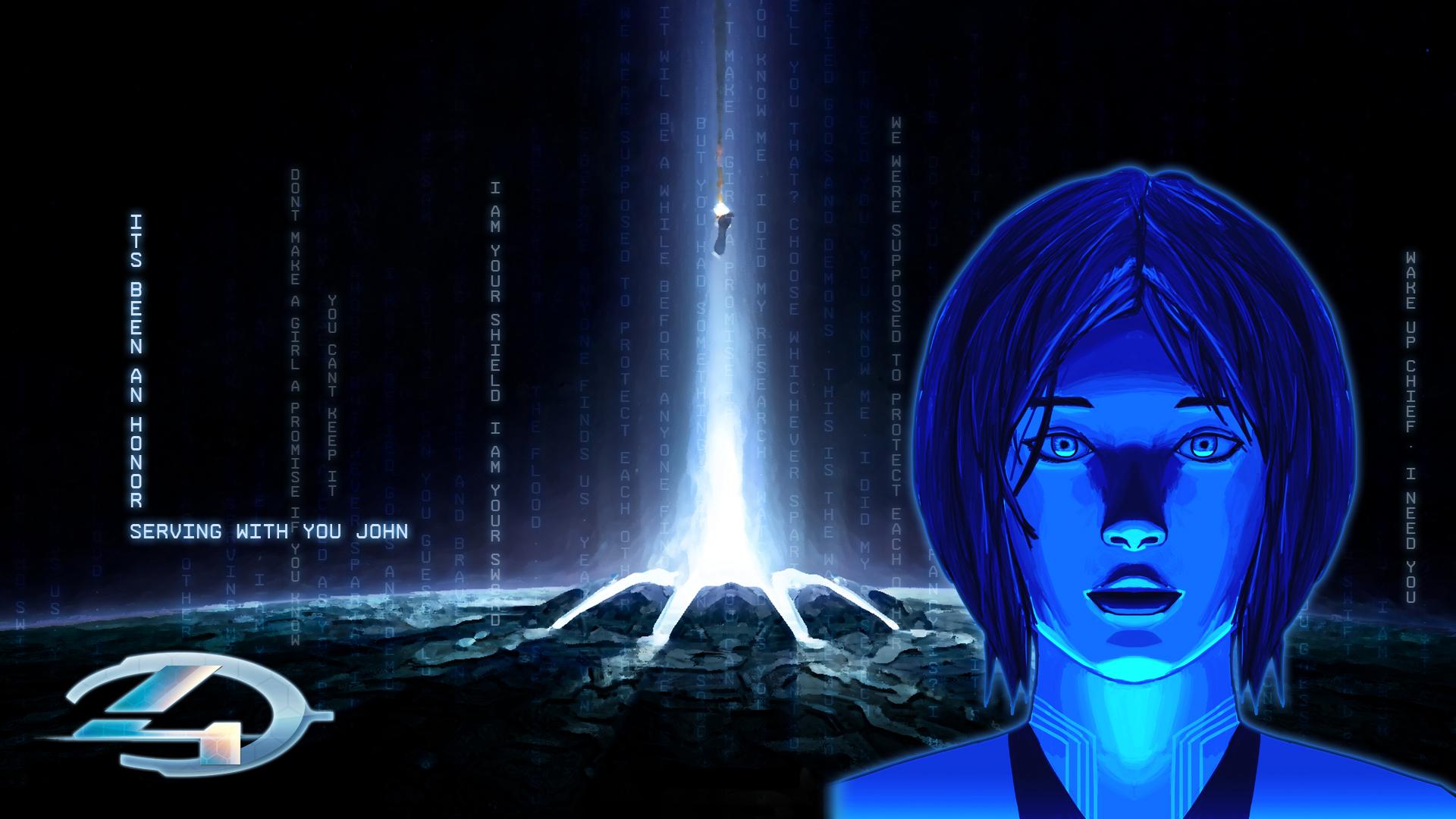 Halo 4 Cortana by IceNinjaX77 1920x1080