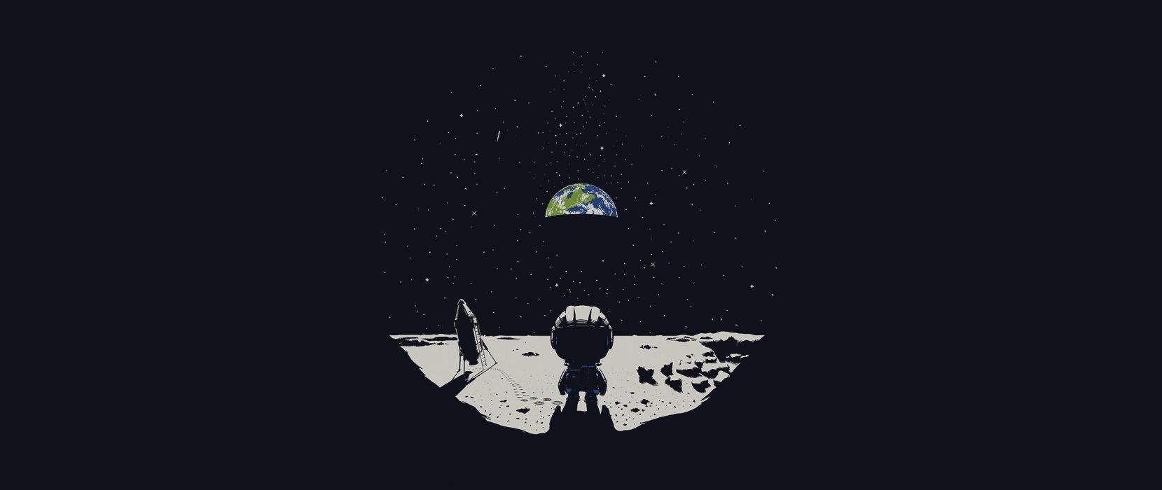 Earth ultra wide Moon Kerbal Space Program wallpaper 2560x1080 1659x700