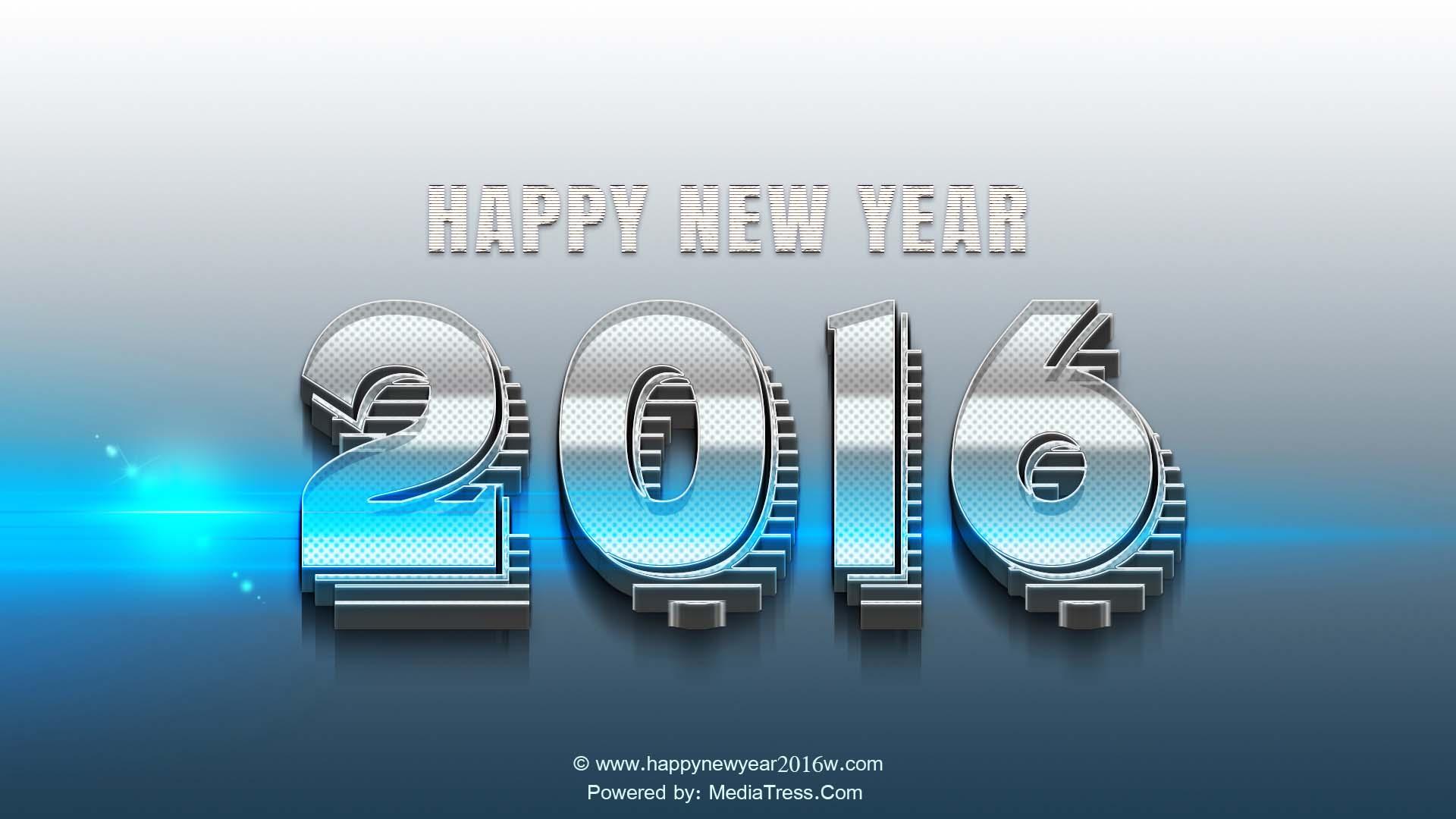 3D Wallpapers Written On It Happy New Year 2016 1920x1080
